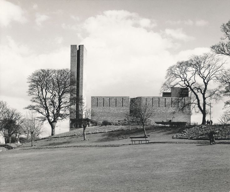 Photograph of St Peter's College from the Gillespie, Kidd & Coia Archive in the Glasgow School of Art Archives and Collections (Archive reference: GKC/CC/2/2/31)