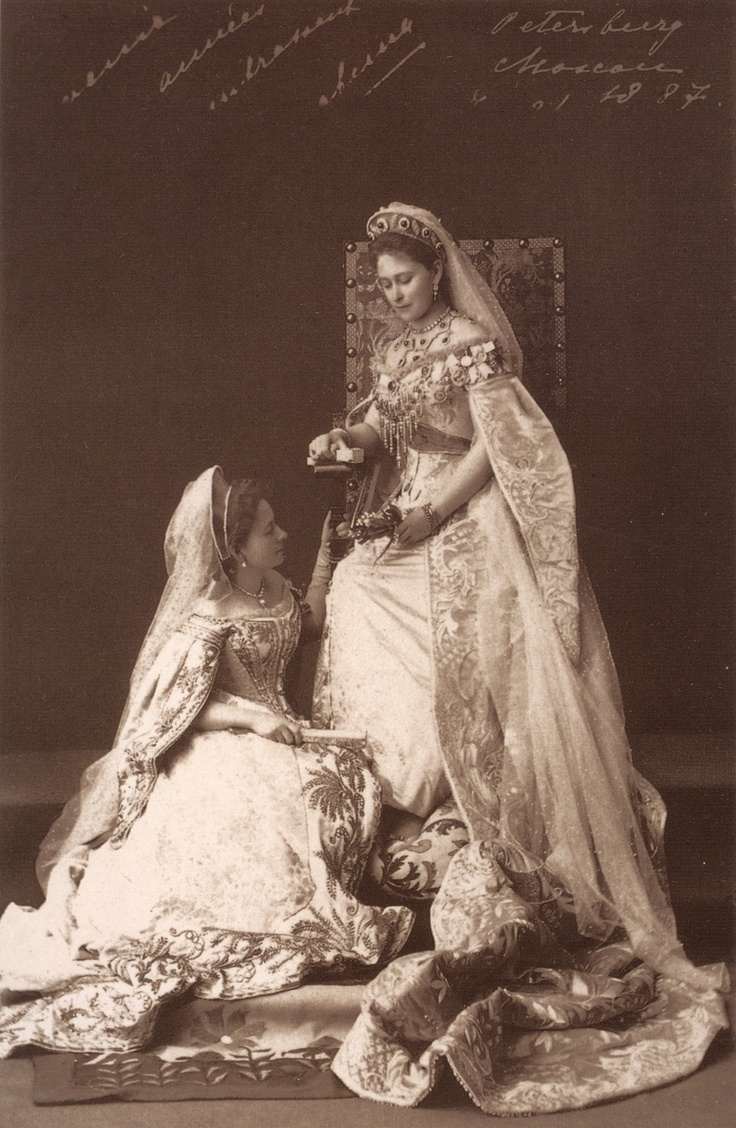 1887 Grand Duchess Elizabeth and her maid of honour Kitty