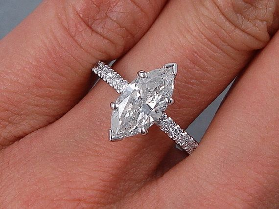 Beautiful 1.80 ctw Marquise Cut Diamond by BigDiamondsUSAcom