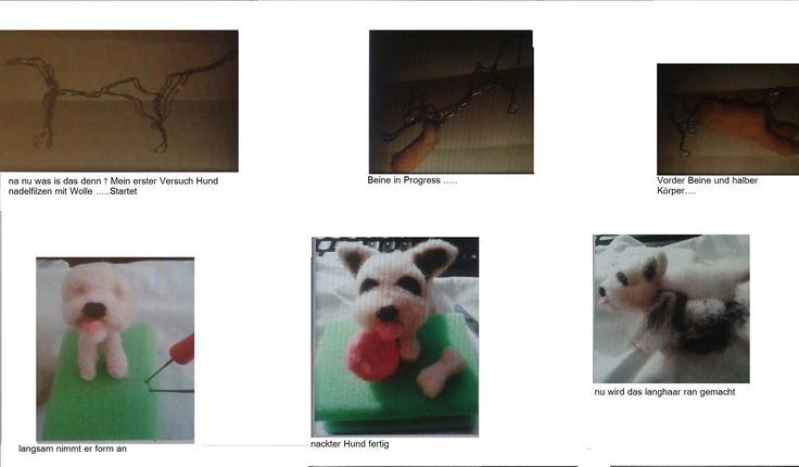 needle felting a Dog my first pice by annakreativ50