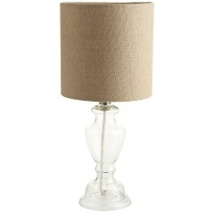 Clear Glass Boudoir Lamp (pair for each side of the sofa)