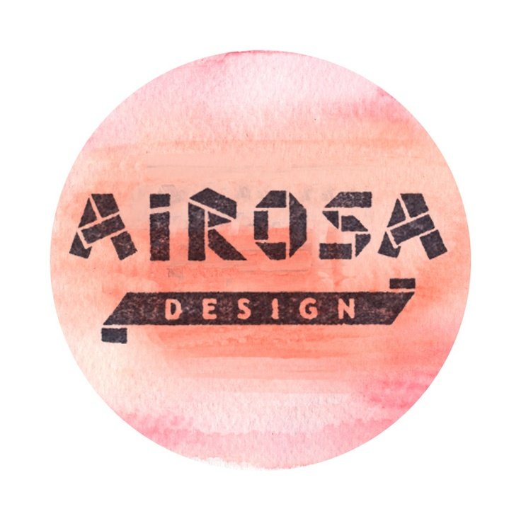 Airosa's watercolour logo