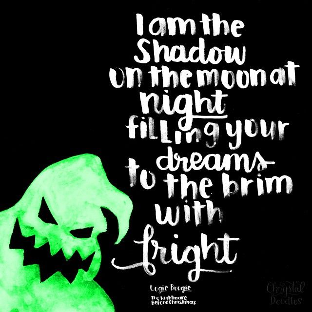 day 60 100 the nightmare before christmas quote oogie