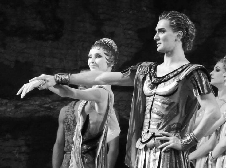 Svetlana Zakharova and Vladislav Lantratov as Aegina and Crassus in the Bolshoi's 'Spartacus'