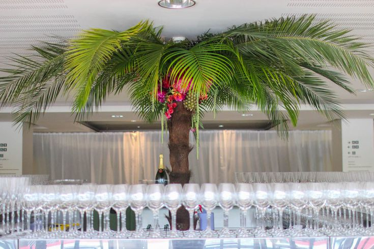 Our take on a tropical palm tree for BAFTA TV Awards 2017, London #Events #EventsInspo #Design #London