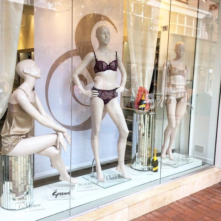 New window display! Champagne nights! #instalingerie #boutique #weddingwednesday #inspiration #lace #fleurofengland #chantelle @fleurofengland @chantelle_paris