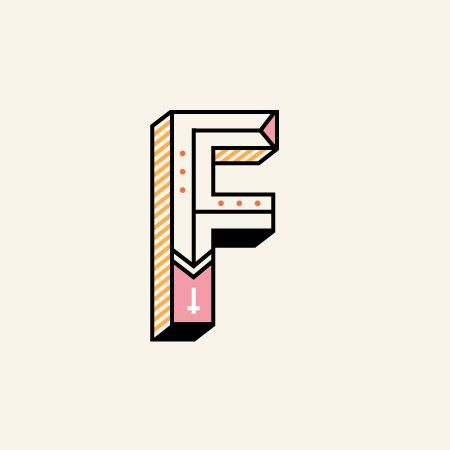 In House Type fun! faroutny.com Typography by Far Out, FarOut, Far Out NY, design, graphics, graphic design, brooklyn, New York, style, Type Design, colors, F, Letters, Letter design, Letter Type, Colorful, design studio