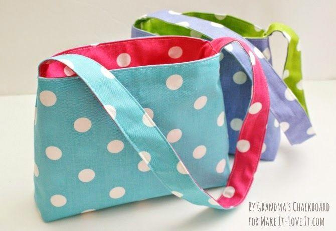DIY Reversible Bag...for kids! --- Make It and Love It برای بسته شدن درش: میتونیم توش آهنربا بذاریم
