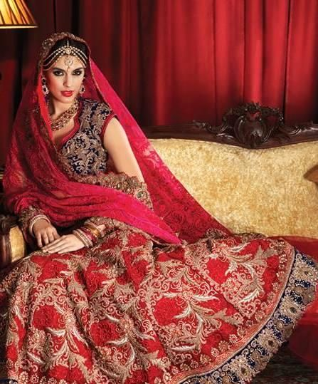 Bridal Lehengas - Deep Red Lehenga with Gold Zari work | WedMeGood #wedmegood #bridal #Lehenga