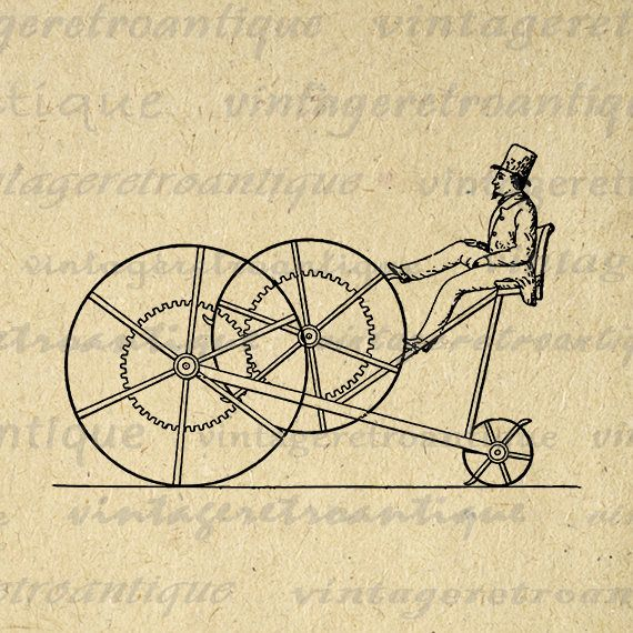Digital Antique Treadmill Machine Graphic Download Image