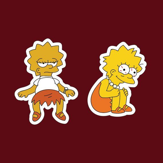Bart and Homer sticker The Simpsons sticker