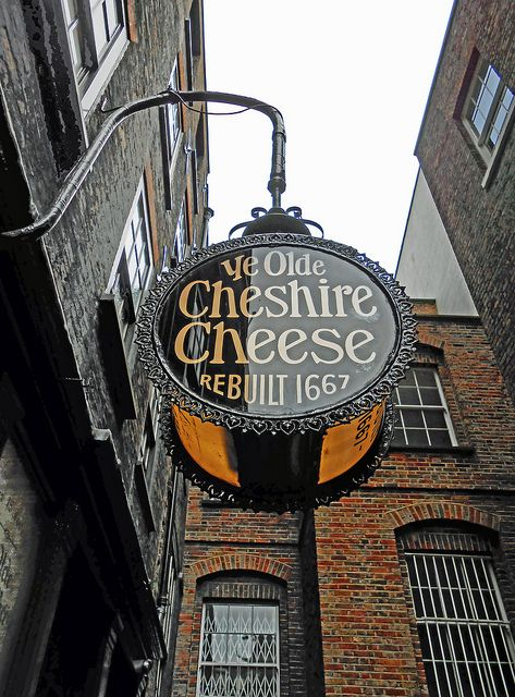 The Cheshire Cheese    Just off Fleet Street; this pub has been around for some time and it retains an 'Olde London' atmosphere. Dr Johnson's House is just around the corner and it's highly possible he would have come here (though there