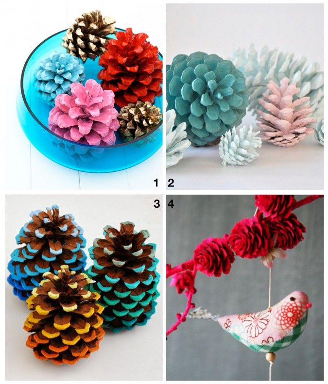 Everyday Fun Decorated Pinecone Crafts Do With Diddle