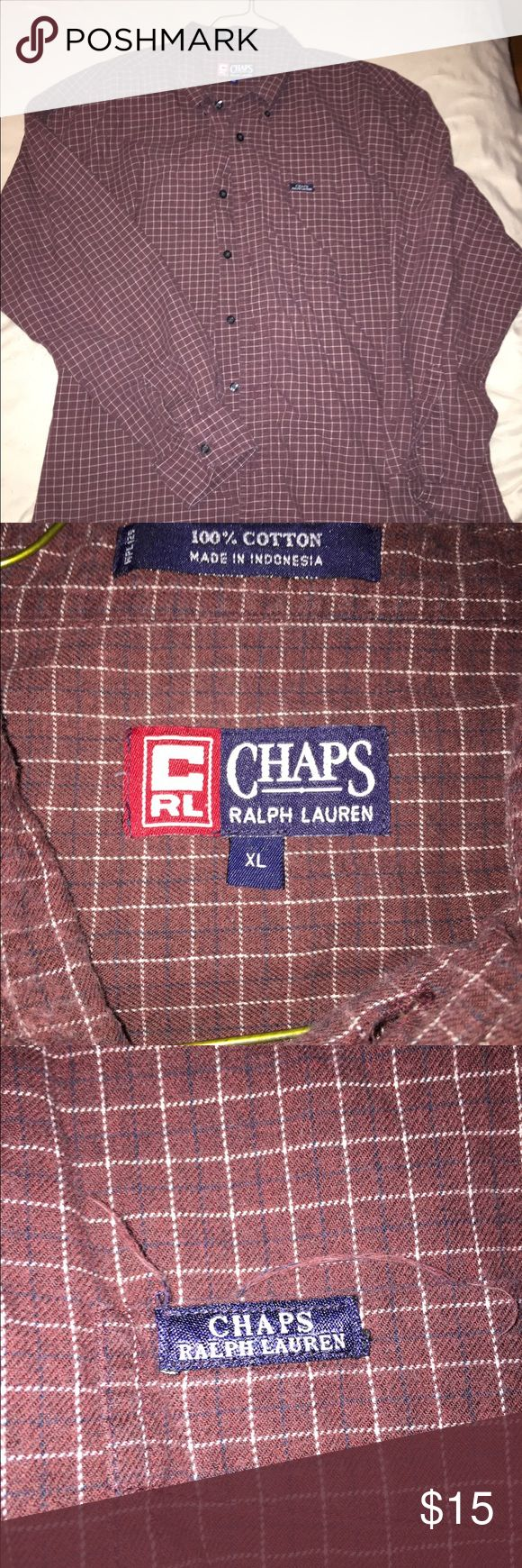 Vintage Chaps Ralph Lauren button-up Great condition. Marked XL but fits as a snug large or loose medium!** Chaps Shirts Dress Shirts