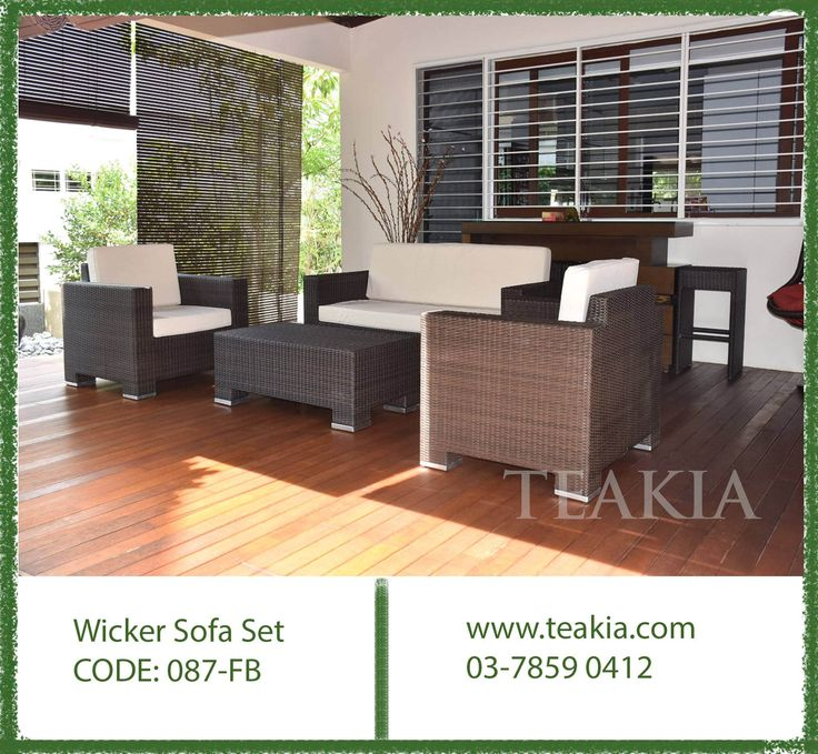 https://flic.kr/p/21RQ3WD | 23926241_1707966032549623_4557200533516290841_o | Wicker furniture: All our wicker furniture is hand woven with viro fibresViro® fiber, a premium synthetic Polyethylene fiber.Viro® is high flexible, UV and weather resistant.This fibre is designed to be insensitive to temperature differences ranging between -25C to 70C. For further info call us at 03-78590412 or 016-6119674 or mail us at info@teakia.com or visit us at : NO 26 Jalan kerawang U8/108 Bukit Jelutong