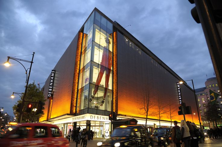 Light + Design - Debenhams Façade, Oxford Street