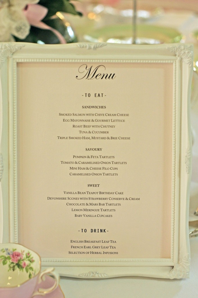 Great Idea Putting Menu In Photo Frame Very Stylish