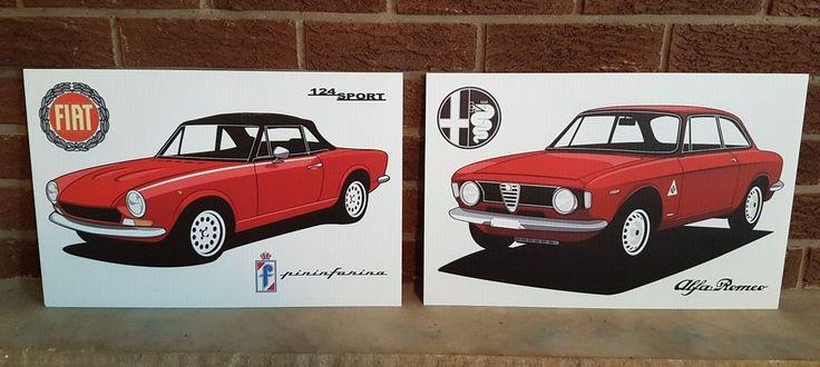 "LOT OF 2 MECHANIC FIAT ALFA decorative wall art 12""x18"" 1-off | eBay Motors, Parts & Accessories, Apparel & Merchandise | eBay!"
