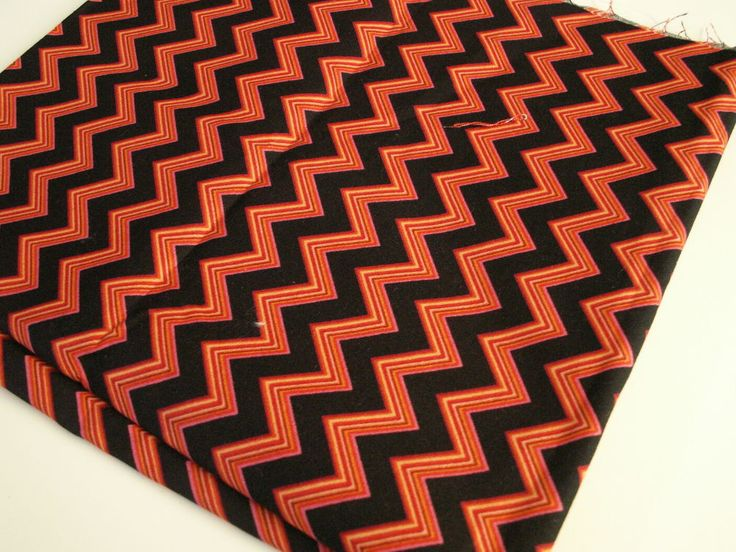 Red & Black Chevron Fabric Remnant, Doll Clothes, Fabric Bows, DIY Craft Sewing #QuiltingTreasures