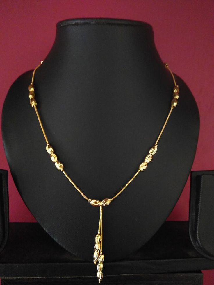 1 gram gold plated party wear office casual necklace dellicate designer set