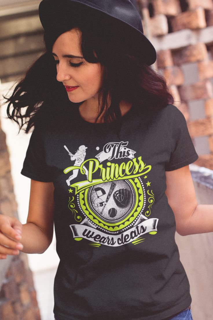 Softball - This Princess Wears Cleats  Click here for many other awesome designs. https://teespring.com/stores/beetee-softball?utm_source=pin
