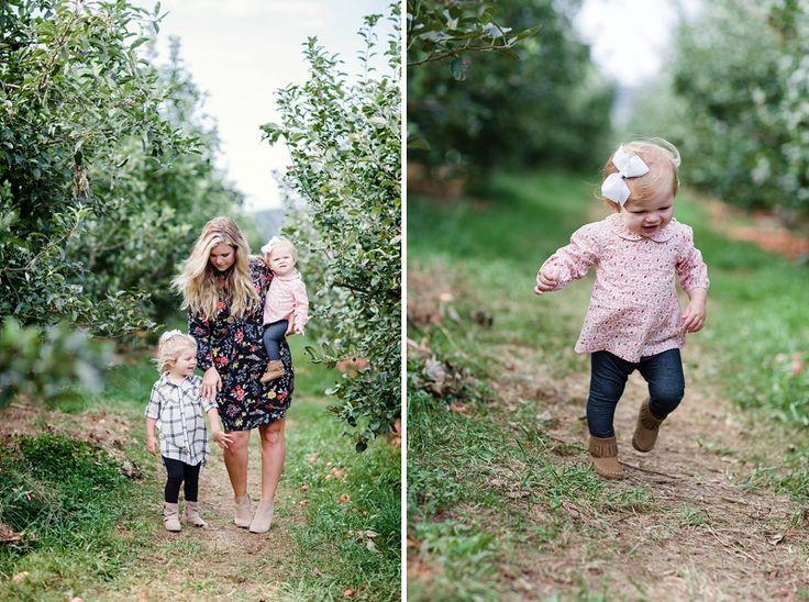 Мама и дочь осенью фото, яблоневый сад семьи сессия