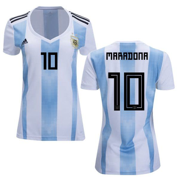 sale retailer f69c8 5c82b Women's DIEGO MARADONA #10 Argentina Home Jersey 2018-2019 ...