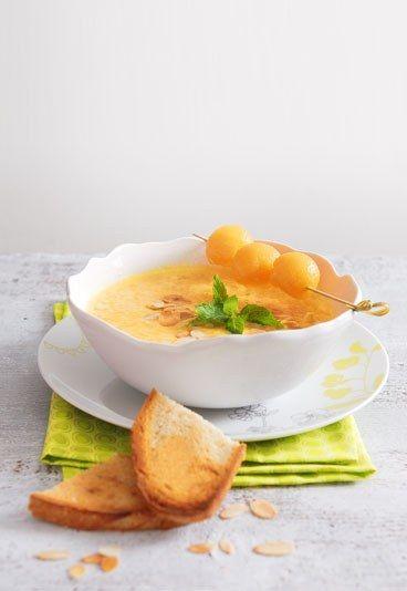 Gaspacho de melon : recette gaspacho melon, gaspacho melon menthe - Melon: idées de recettes de Melon délicieuses