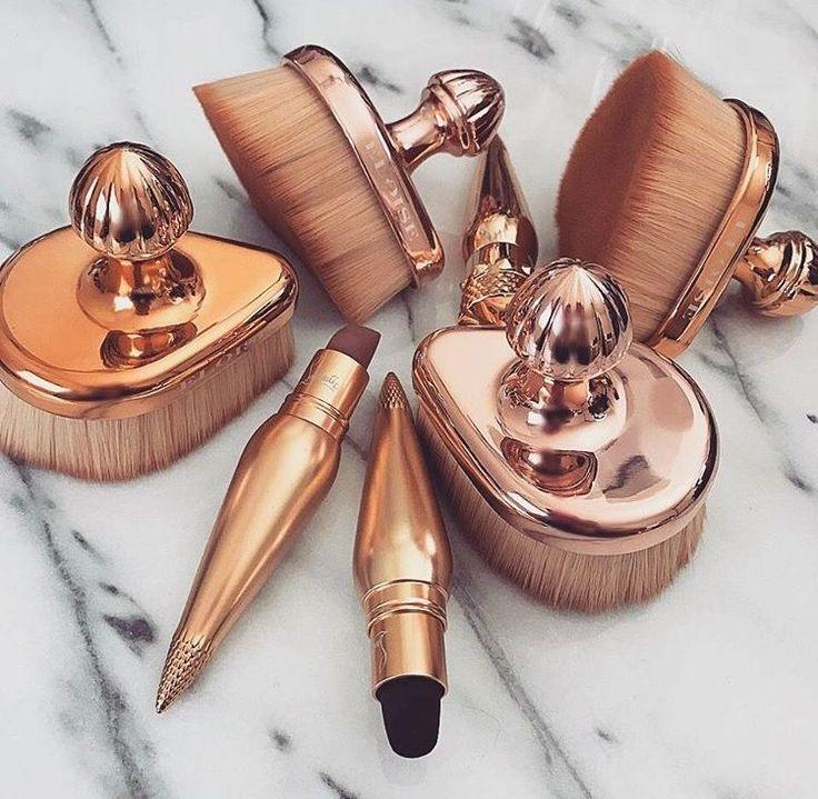 Pincéis maravilhosos cor cobre