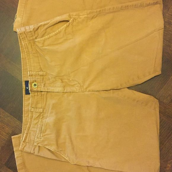 AE brown pants size 34/32 slim straight. American Eagle mens brown slim straight 34/32 pants. Some wear and tear on hem. American Eagle Outfitters Pants