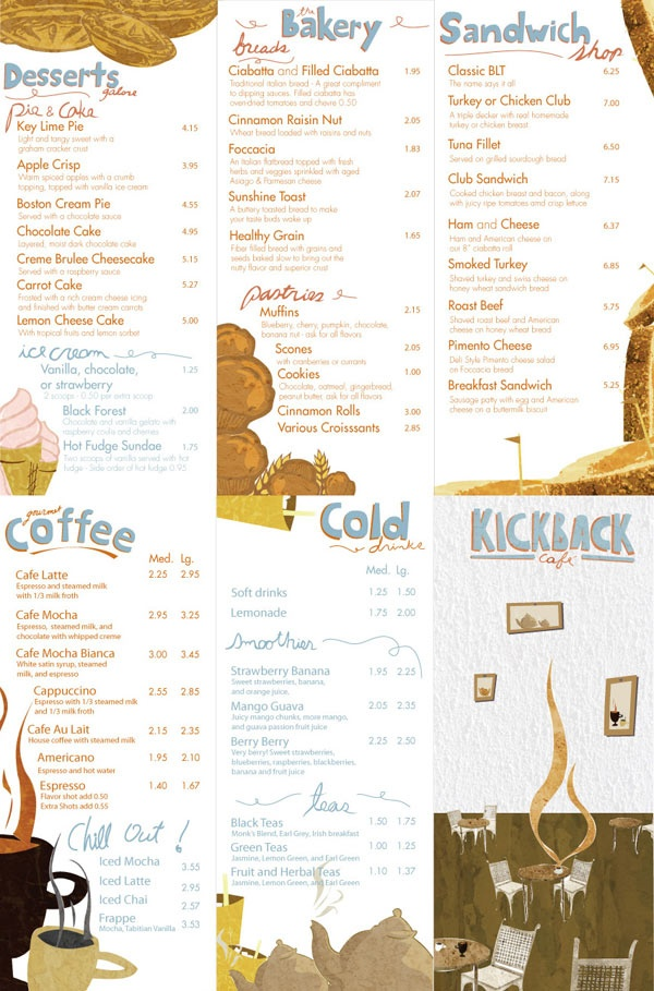 How great is this menu from Kickback Cafe. I wanna go
