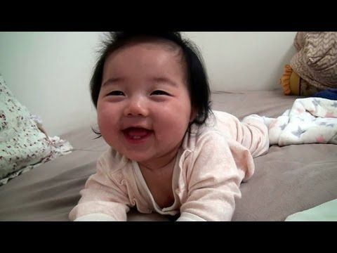 The cutest baby ever!   Whenever I have a bad day, she'll make it all better :)