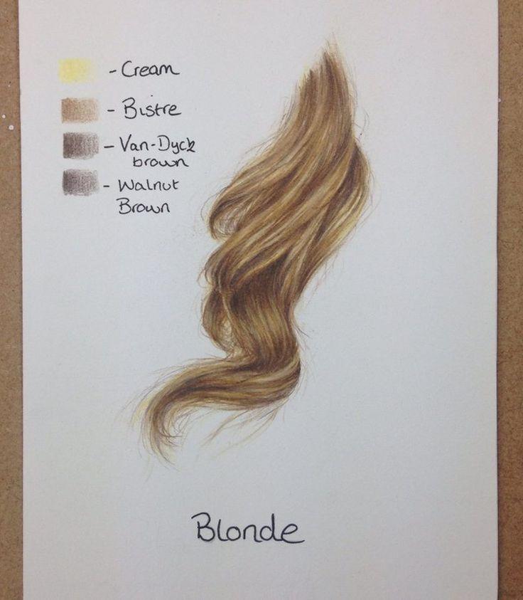 Resultado de imagen de pinterest pintar cabello,acuarelas