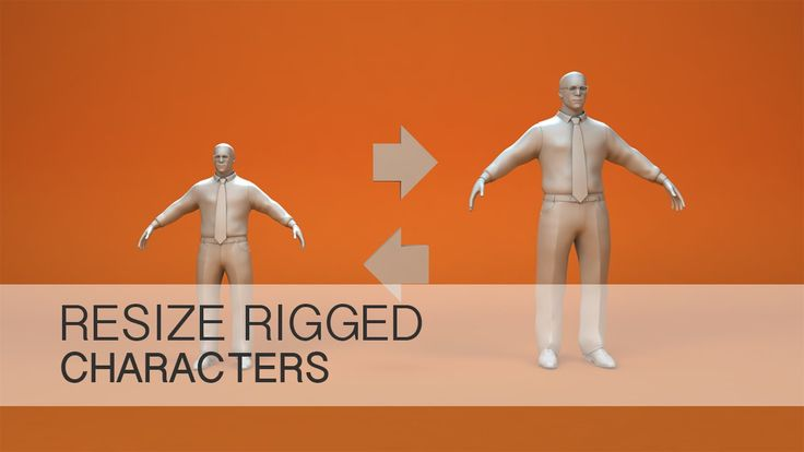 Cinema 4D Tutorial - Resize Rigged Characters