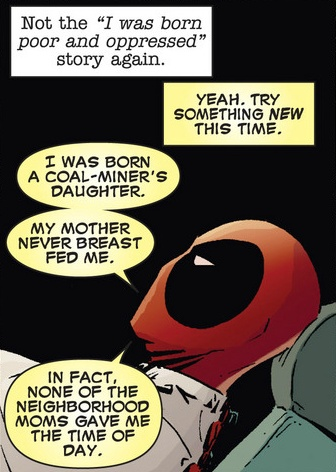 Best of all of Deadpool's origin stories ever! This was the funniest part of the whole story arc! Deadpool Kills the Marvel Universe #1