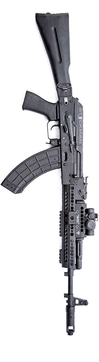 AK with Vortex Optics Sparc and a Midwest Industries, Inc. rail. By Stickman. - http://www.RGrips.com