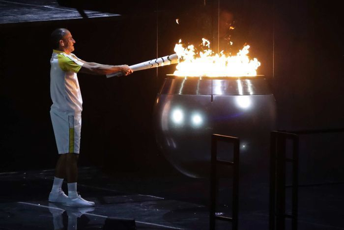 Olympic flame is lit
