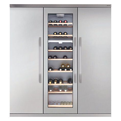 John Lewis Side by Side JLFFW1554 Wine Cooler Triple Fridge Freezer, Stainless Steel Online at johnlewis.com