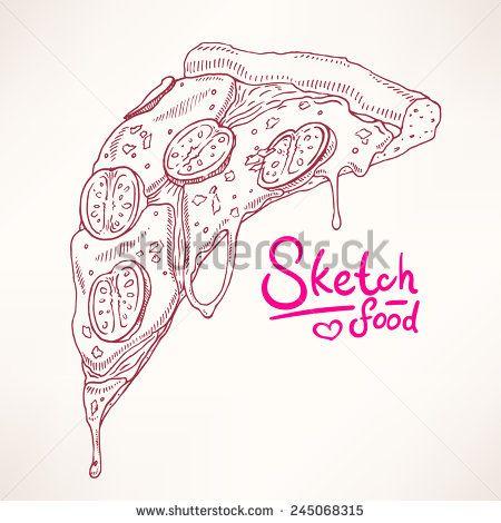 Arte e grafica vettoriale d'archivio di Pizza Slices | Shutterstock