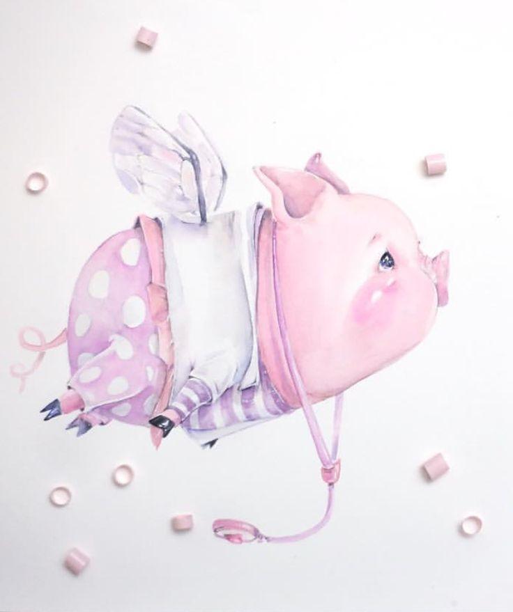 Картинки хрюшек прикольные рисованные, марта для мам