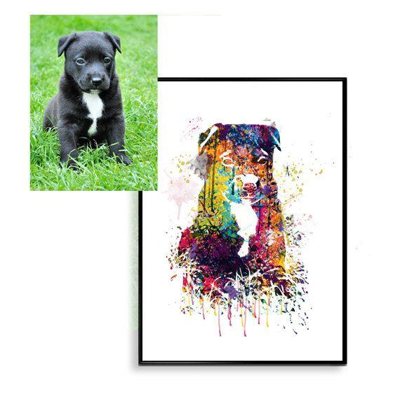 Custom Graduation gift, custom Pet Portrait, Water-colour personalized Pet Portrait Custom dog Art, Original dog Art, Custom Cat Print, WT16 by artRuss on Etsy