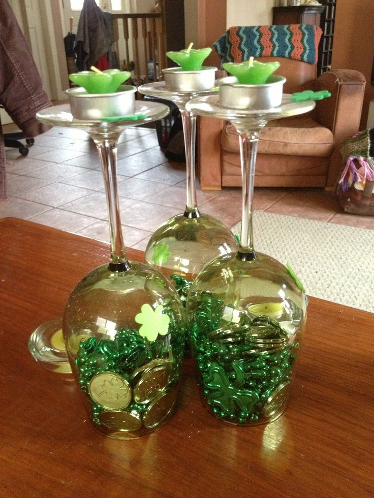St. Patrick's Day idea – St Patricks Day decoration/candle holder :)