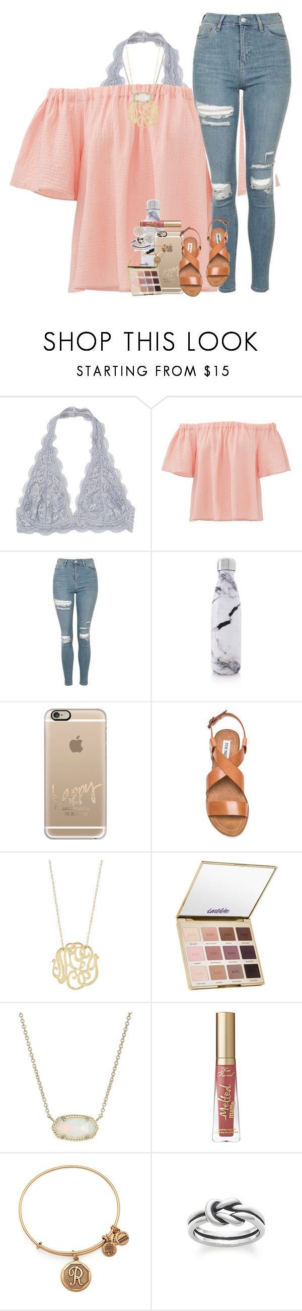 """you're the fire & the flood."" by ellaswiftie13 on Polyvore featuring Rebecca Taylor, Topshop, S'well, Casetify, Steve Madden, Ginette NY, tarte, Kendra Scott, Alex and Ani and Avery"