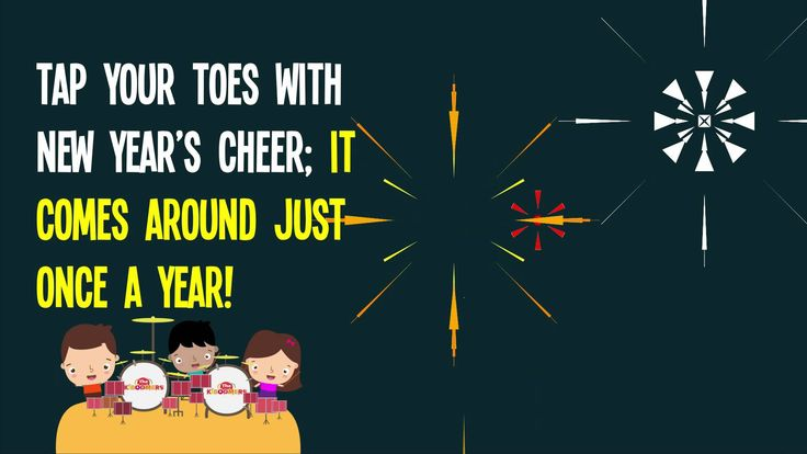 Learn a New Year Song with the kids! Super easy and fun! #newyear #preschool #kindergarten