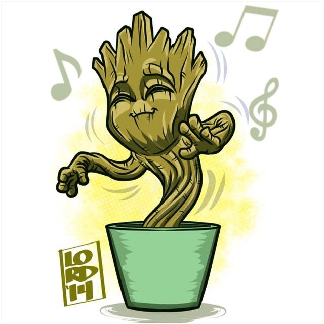 Guardians of the Galaxy!! Groovin Groot!!!