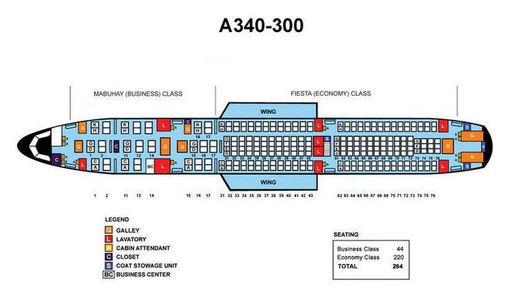 Finnair a340 seat map