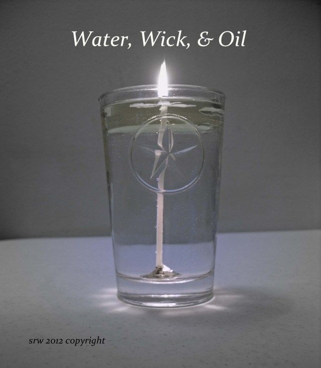 Weird tutorial... but really good & cheap idea for pretty candles :) You can put anything in the water for decoration.