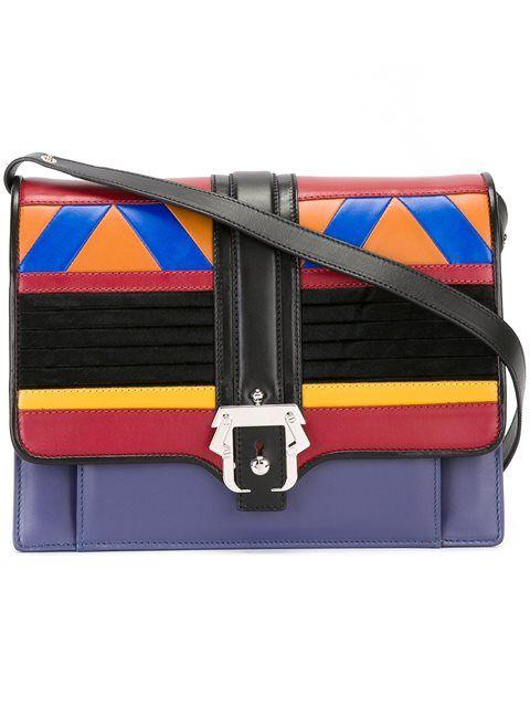 PAULA CADEMARTORI Colour Block Satchel. #paulacademartori #bags #leather #hand bags #satchel #