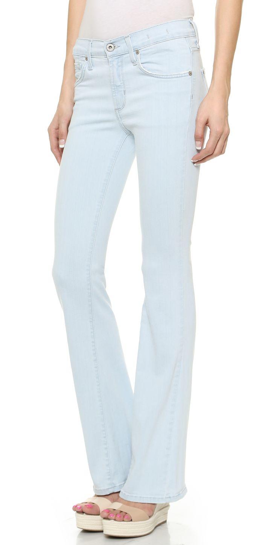 James Jeans Fonda Sweeping Side Seam Flare Leg Jeans | SHOPBOP