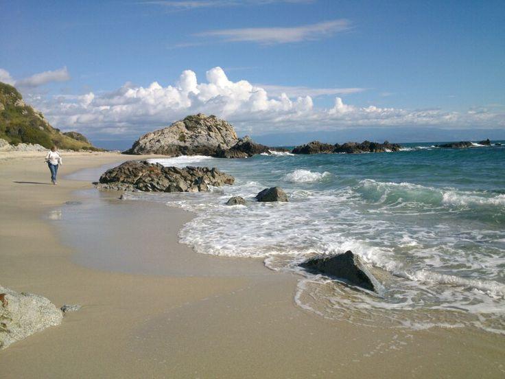 Пляж Гротичелли. Санта-Мария,  Калабрия, Италия.   #calabria #beach #capovaticano #italy
